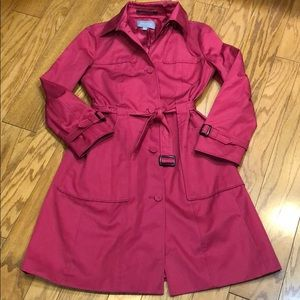 Ann Taylor Pink Trench Coat